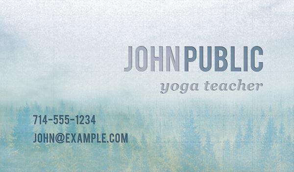 Free Yoga Teacher PSD Business Card