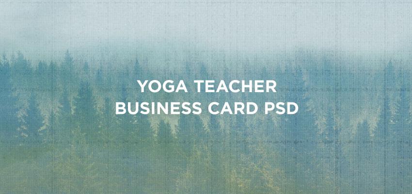 Yoga Teacher Business Card PSD