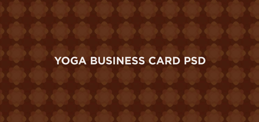 Yoga Business Card PSD