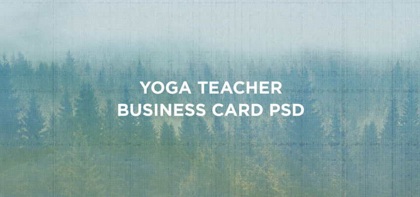 Yoga Teacher Business Card PSD