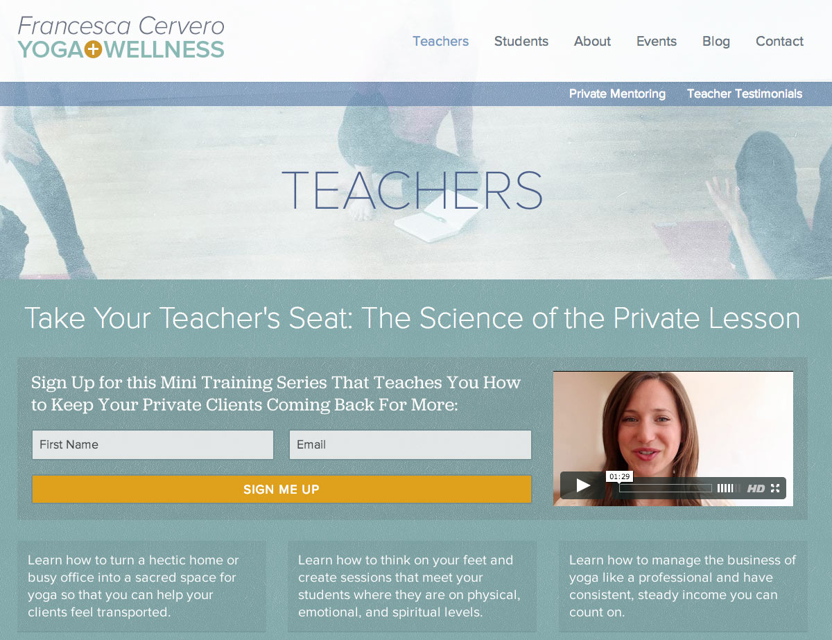 Teachers Landing Page